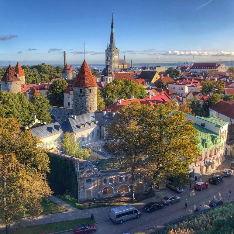 Tallinn, Estonia from a view point above the city