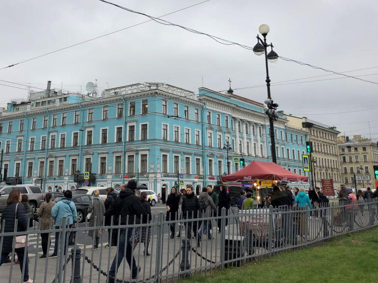 Nevsky Prospekt in St. Petersburg, Russia