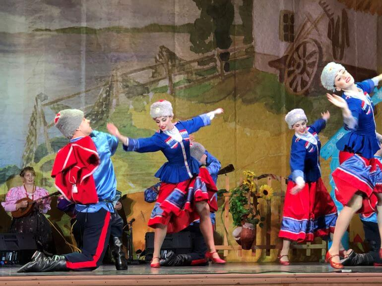 Russia's Native Song and Dance performance at Youth Palace in St. Petersburg, Russia