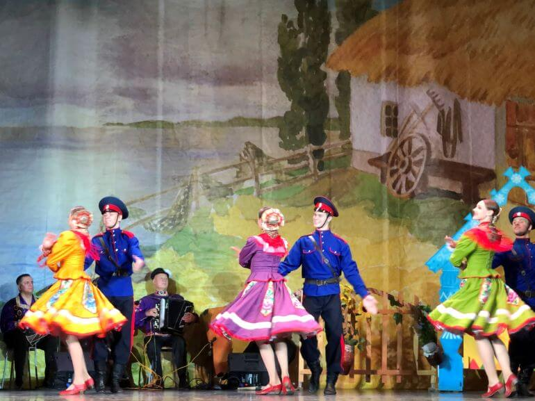 Performance of Russia's Native Songs and Dances -- Russia in Fairytales performed by Barynya at Youth House on Vasilyevsky Island in St. Petersburg, Russia