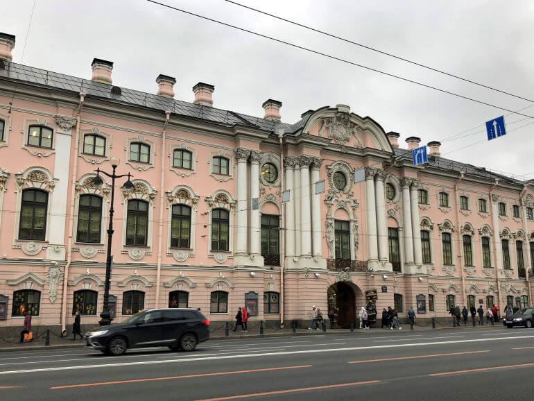 Stroganov Palace on Nevsky Prospekt in St. Petersburg, Russia