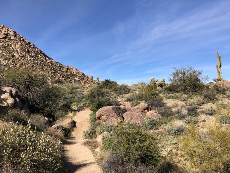 Marcus Landslide Trail at Tom's Thumb Trailhead in Scottsdale, Arizona