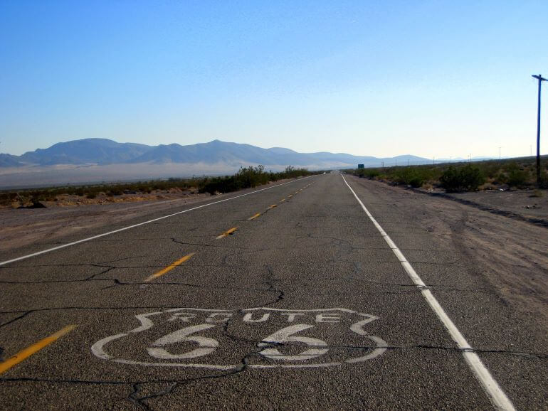 Old Route 66 in the Mojave Desert, California