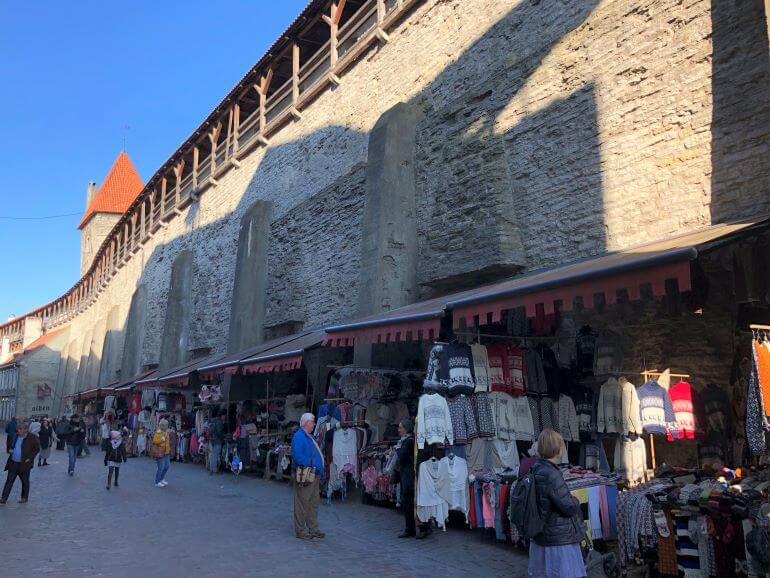 Market in Old Town Tallinn, Estonia
