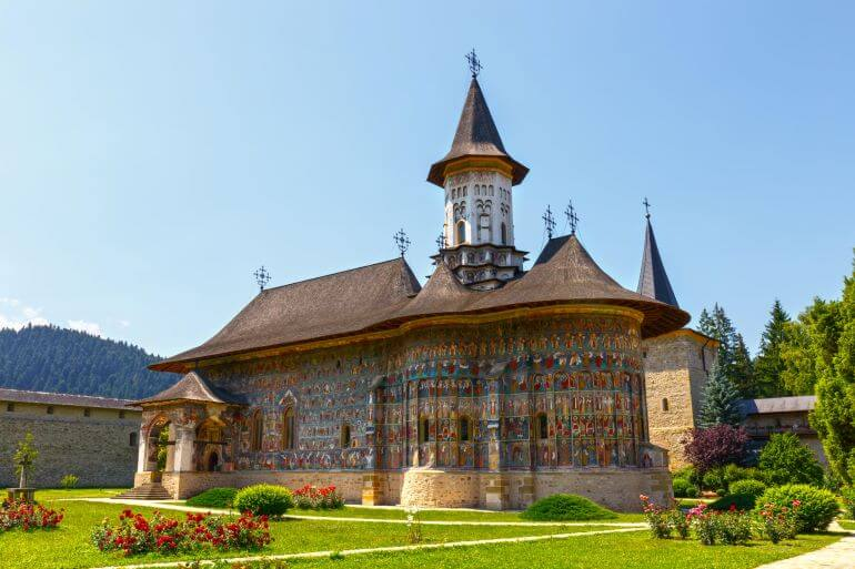 Painted Romanian church -- Photo by Barbara Nelson