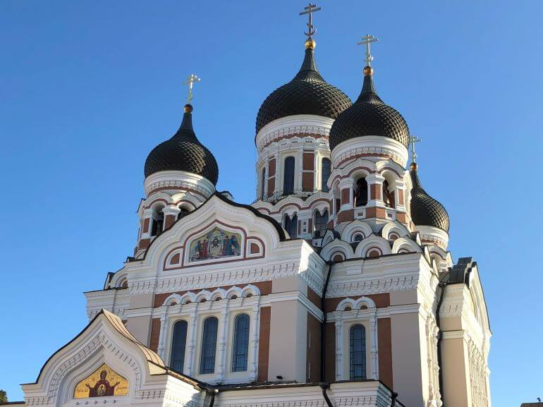 Alexander Nevsky Cathedral on Toompea Hill in Tallinn, Estonia
