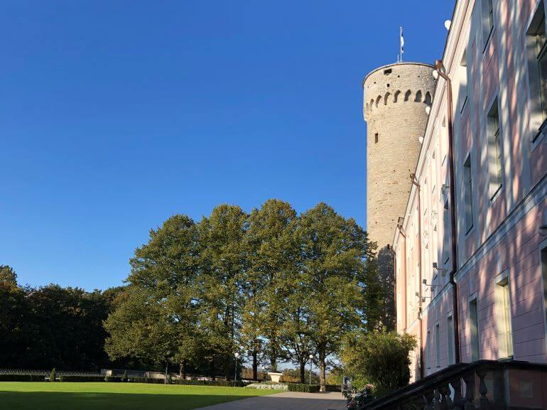 Toompea Castle and gardens in Tallinn, Estonia