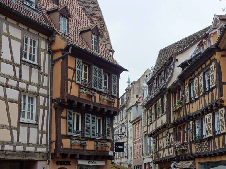 Picturesque medieval buildings of Colmar, France