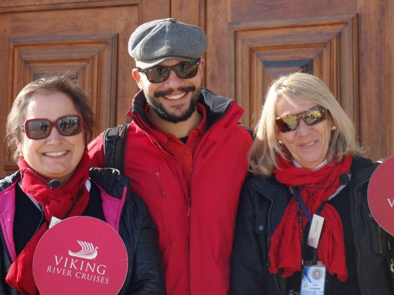 Viking tour guides on Douro cruise in Portugal
