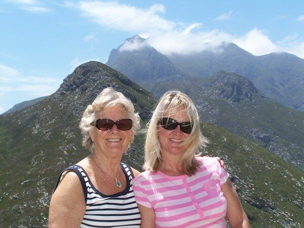 Jo Castro with her mother in South Africa -- Photo courtesy of Jo Castro