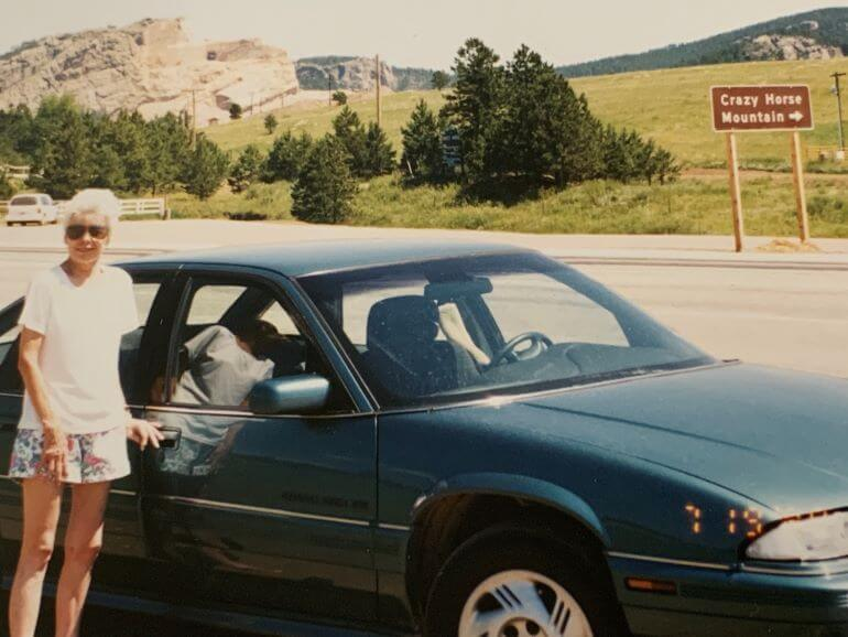 Lisa Truesdale's mother on a road trip - Photo courtesy of Lisa Truesdale