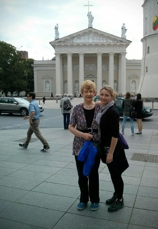Teresa Keane and her mother in Vilnius, Lithuania -- Photo courtesy of Teresa Keane