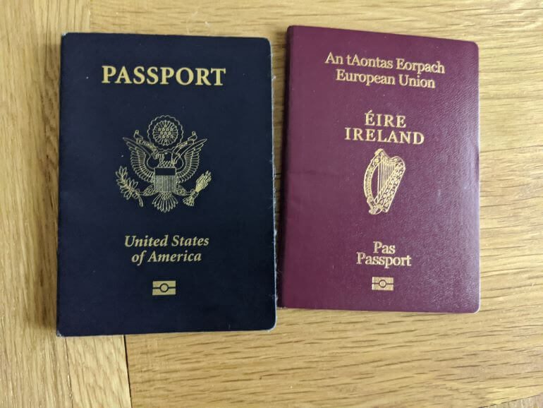 Michele Herrmann's United States and Ireland passports