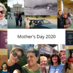 Collage of travel writers and their mothers for the Mother's Day 2020 tribute to traveling moms