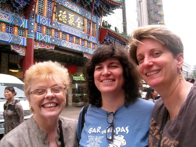 Sue Reddel with Diana and her mom in China