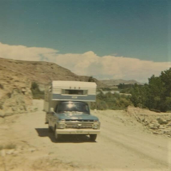 Off the beaten path between Cisco and Moab, Utah 1967
