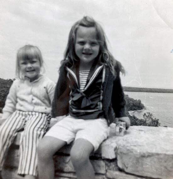 Cathy and Chris Sweeney in Door County, Wisconsin 1960