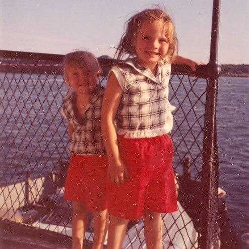On ferry from Sault Ste Marie, Michigan 1960