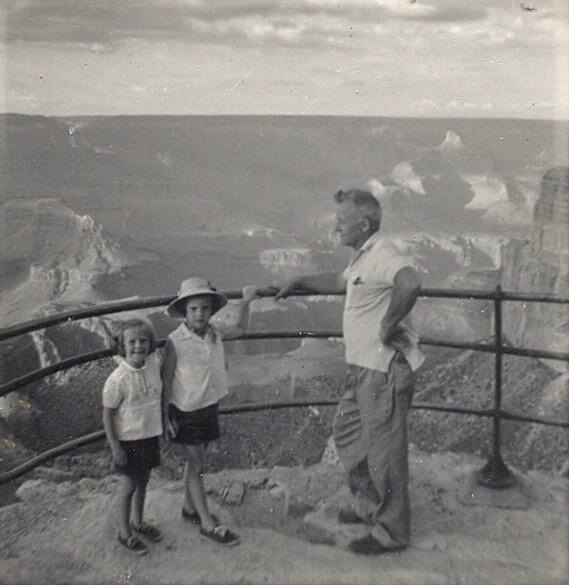 Family at the Grand Canyon in Arizona 1962