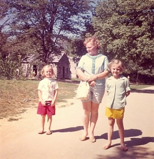 Christina, Catherine, and Jane Sweeney at Lincoln's Village in New Salem, Illinois 1962