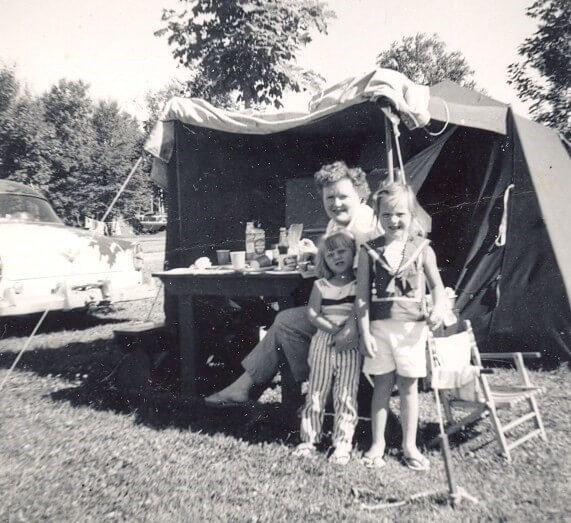 Camping in Michigan 1960
