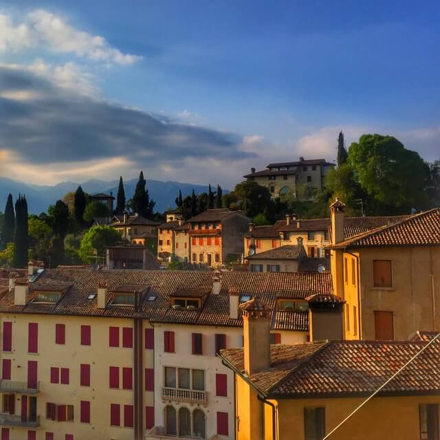 View from Queen Cornaro's Castle of Asolo, Italy.
