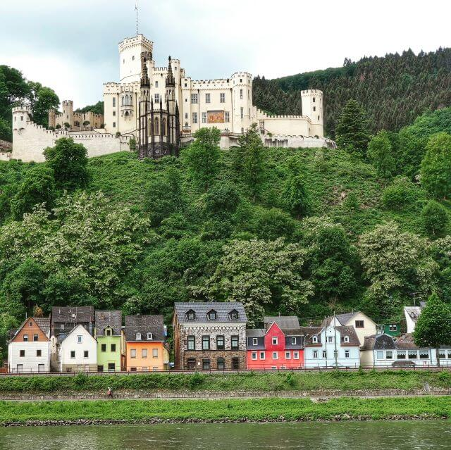 Stolzenfels Palace on the Middle Rhine of Germany