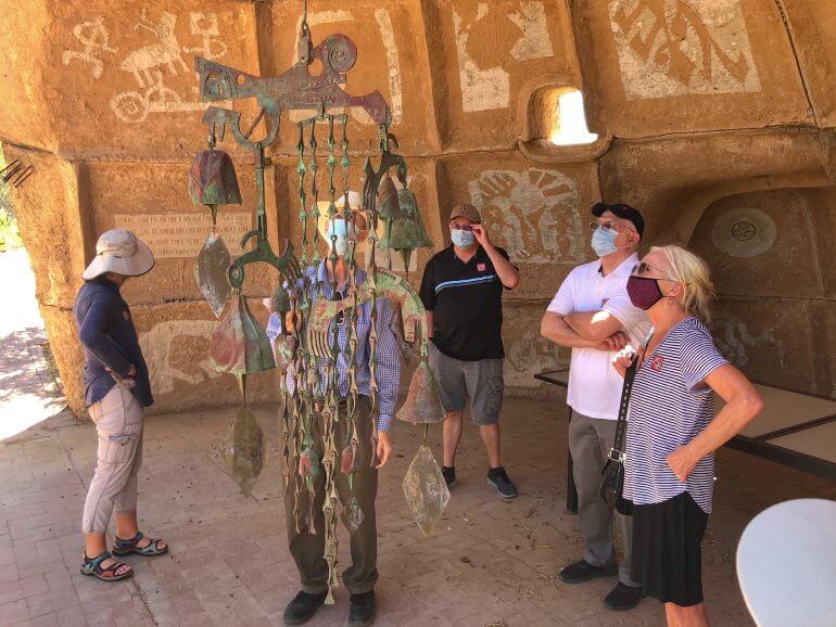 Small tour group at Cosanti Originals