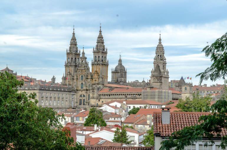 Spires of Santiago de Compostela Cathedral -- Photo courtesy of Barbara Nelson