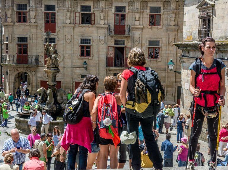 Pilgrims gather in Santiago de Compostela -- Photo courtesy of Barbara Nelson