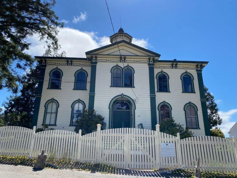 Bodega Bay Schoolhouse on Bodega Lane, Bodega Bay, California