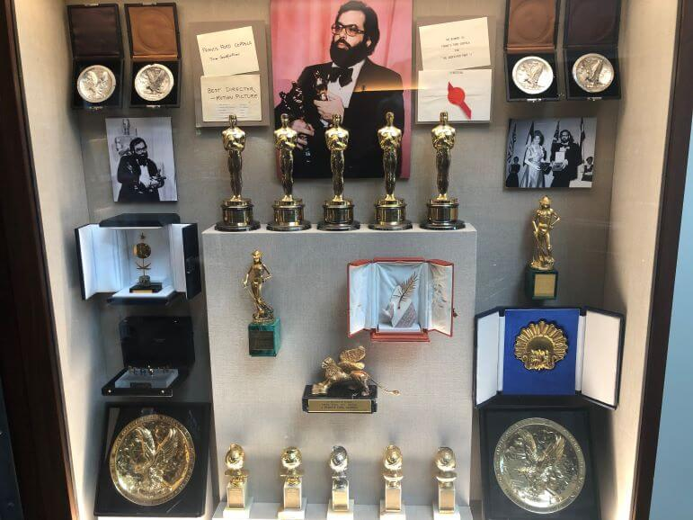 Movie memorabilia at Francis Ford Coppola Winery in Geyserville, California