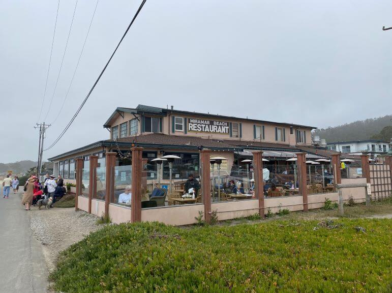 Miramar Beach Restaurant in Half Moon Bay, California along the San Mateo County coast