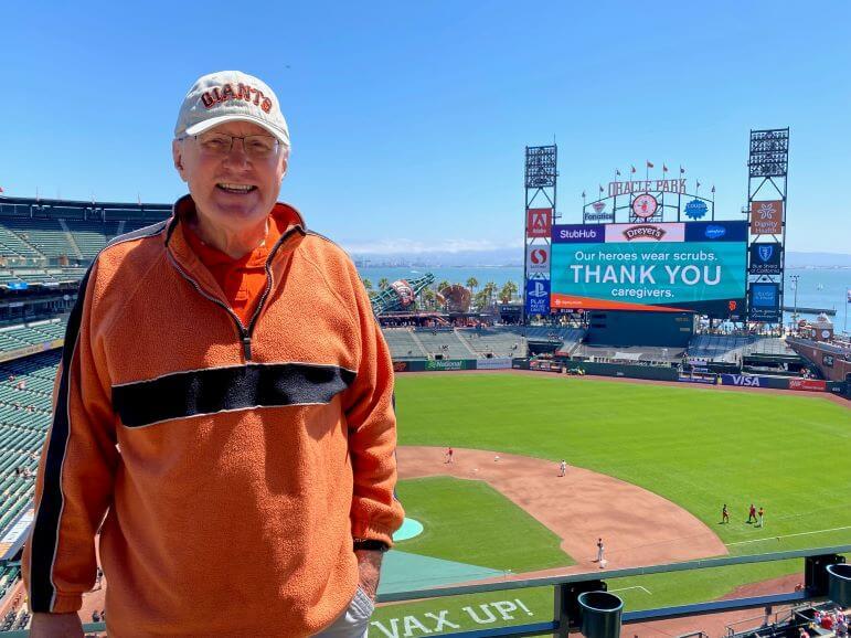 Mr. TWS at Oracle Park, home of the San Francisco Giants -- San Francisco, California