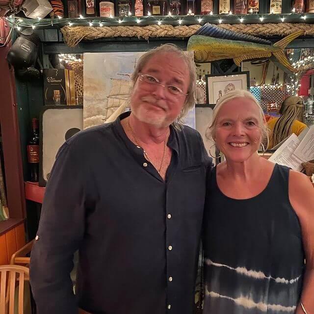 Bert Kirchner of Papa Zouk with Catherine Sweeney in St John's Antigua