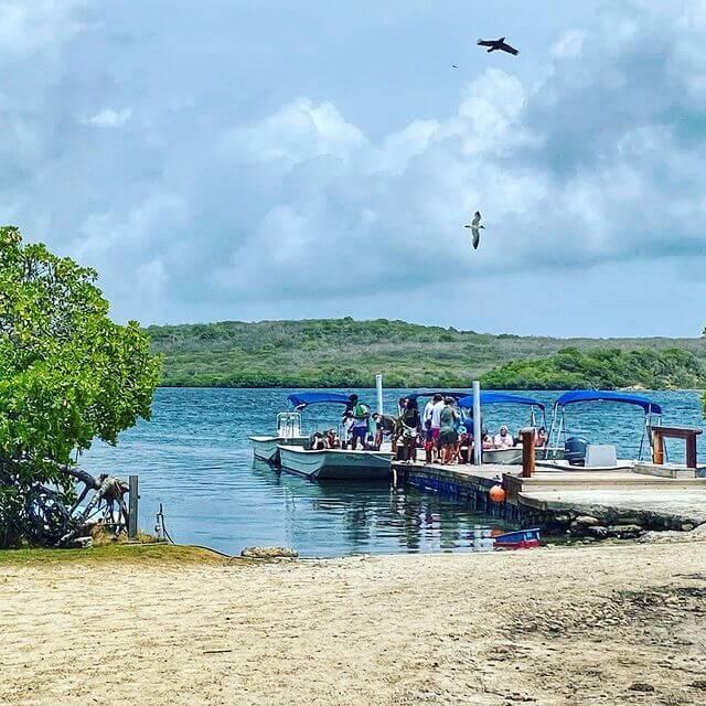 Stingray City boat dock, Antigua