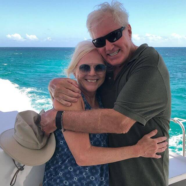 The Traveling with Sweeney duo on a cruise around Antigua