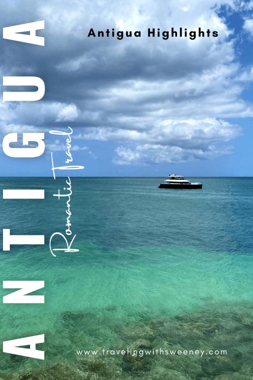 A boat on Ffryes Bay in Antigua, Caribbean Sea