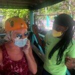 Getting geared up at Antigua Zipline