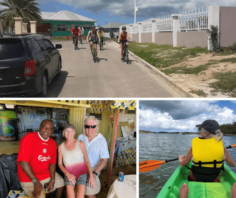 Kayaking, biking, and hanging out at the beach bar in Antigua -- Top photo courtesy of Triflexcursions