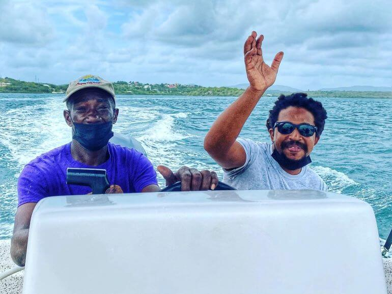 Leon and George of Stingray City, Antigua