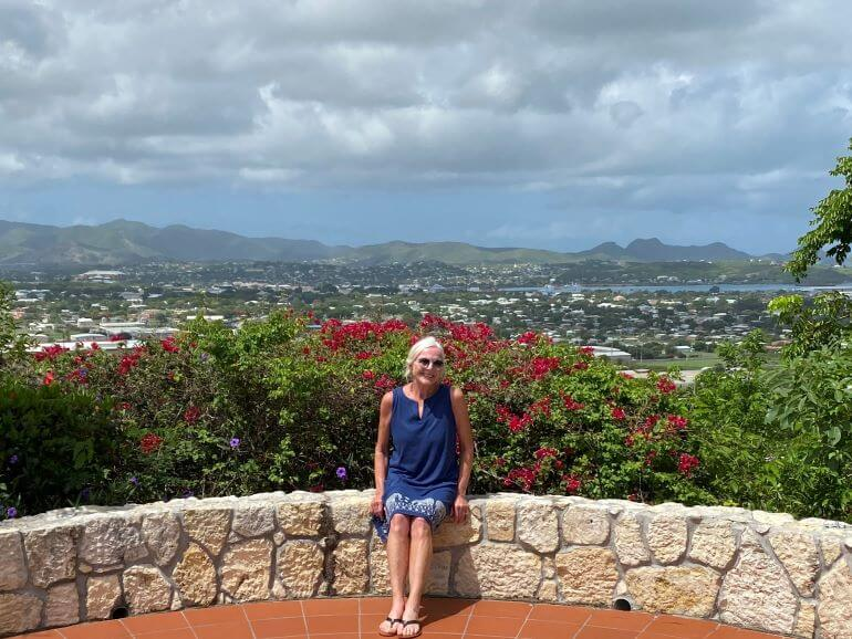 View from home of Arthurton Dennis where Nicole's Table cooking classes are held in Antigua