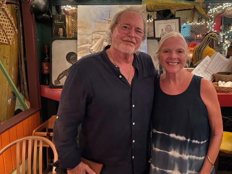 Bert Kirchner and Catherine Sweeney at Papa Zouk, St. John's, Antigua and Barbuda